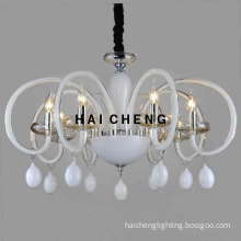 White modern chandelier for home decoration