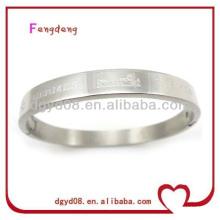 2014 new design popular 316L stainless steel engraved pattern bangle/bracelet