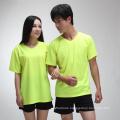 Summer fluorescent green sports quick-drying T shirt