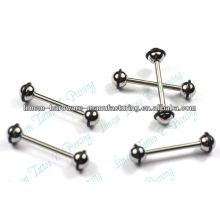 316L surgical steel black color plated barbell eyebrow rings belly button piercing jewelry