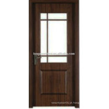 WPC PVC WC quarto porta banheiro com design de vidro