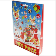 christmas 3d puzzle painting craft,kids children handmade 3d puzzle