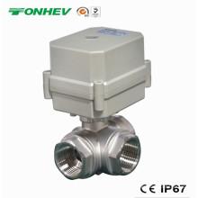 Válvula motorizada del agua del control de flujo de 304ss 304ss (T20-S3-C)