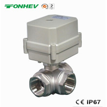 3-Way Electric 304ss Motorized Flow Control Water Valve (T20-S3-C)