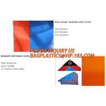 Blue Orange 4x5meter  Waterproof plastic PE tarpaulins, Orange Costom Industry HDPE Tarpaulin, Orange wholesaler portable PE fab