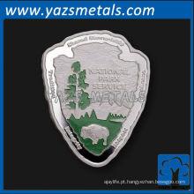 Moeda personalizada, personaliza moedas de forma assimétrica de alta qualidade
