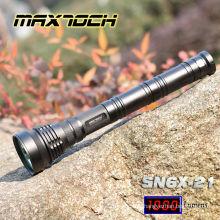 Lanterna elétrica da longa distância do diodo emissor de luz da bateria de Maxtoch SN6X-21 850m 3 * 26650