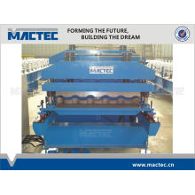 Hochwertige Aluminium / Stahl Dachziegel Roll Formmaschine
