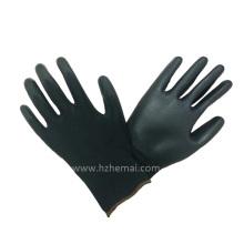 18g Liner Black Nylon Gloves PU Coating Work PU Gloves