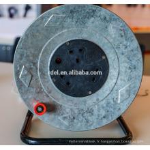 enrouleur de câble en plastique uk, bobine de câble européenne avec prise ip44