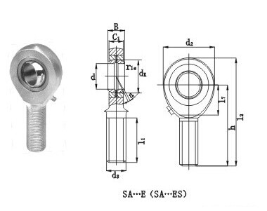 Rod Ends Spherical Plain Bearings SA-ES