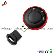 Round & Circle carro chave forma USB Flash Pen Drive para a promoção