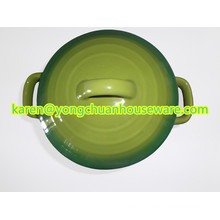 Ceramic Round Casserole with Lid-Blue Color