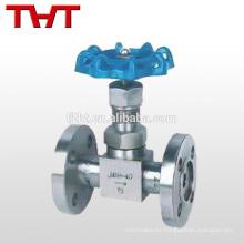 Staight china ss 316 alta presión válvula de aguja de brida