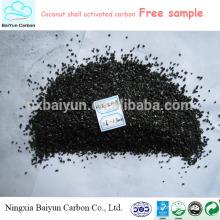 1000 charbon actif granulaire de noix de coco de valeur de l'iode de valeur pour le filtre à eau industriel