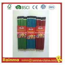 Glitter Lacquare Barrel Hb Wooden Pencil with High Quality