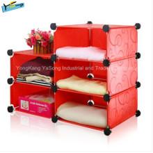 Armoire de rangement de meubles de salle de séjour rouge bon marché