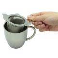 Coador de chá de aço inoxidável com prato s/s