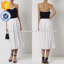 Новый военно-морской флот Мода и белое комбинированное платье Производство Оптовая продажа женской одежды (TA5283D)