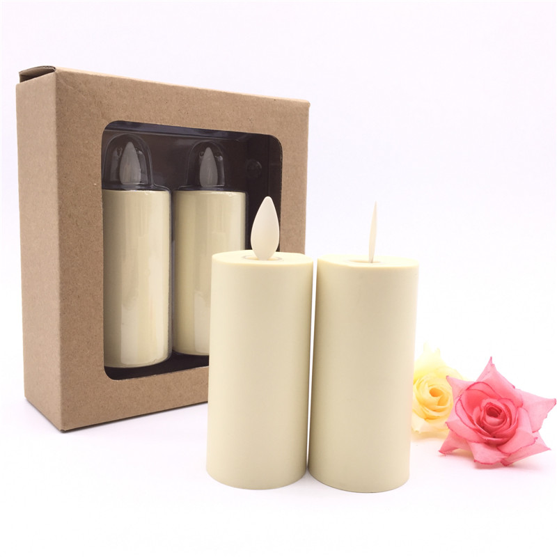 brown box luminara votive candle