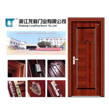 Puerta de acero interior de madera (LTG-119)