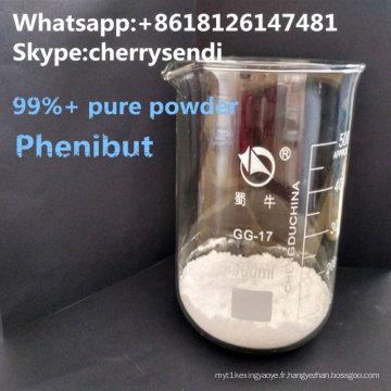 Médicaments antidépresseurs de l'antidépresseur CAS 1078-21-3 de poudre de Phenibut de 99%