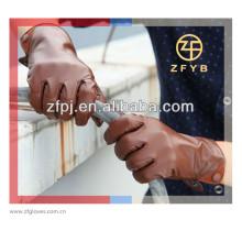 Hombres nuevos diseñador moda rojo vino color guantes de cuero genuino