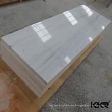 Lámina de acrílico decorativa de la losa de la superficie sólida de mármol artificial
