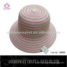 Damen Papier Stroh Cloche Hüte