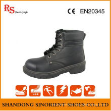 Black Action Leather Goodyear Welt Safety Shoes RS049