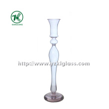 Glass Candle Holder for Wedding Decoration with Single Post (dia 8*32)