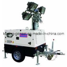 T1000 Serie mit 10kVA 403D-15g Mobile Light Tower Generator Set / Diesel Generator