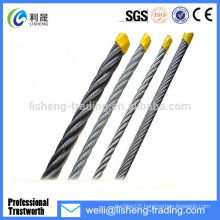 High Tensile Galvanized Steel Wire Rope 19*7