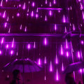 Christmas Falling Rain Drop LED Icicle String Lights