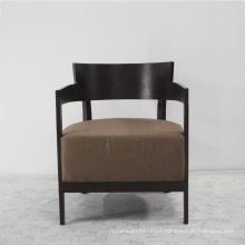 Hotel Wooden Furniture Solid Wood Chair with Soft Fabric Seat