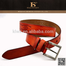 Hottest selling fashion cowhide western leather belts