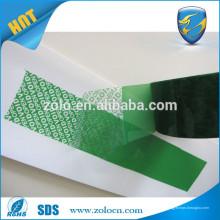 Ruban adhésif, ruban de sécurité anti-effraction, ruban de sécurité à usage unique