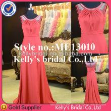 Vestido de noiva de vestido de noiva Kelly elegante e modesto Vestido de dama de honra vermelho barato Vestido anti-estático, antiarrugas e grupo de idade para adultos