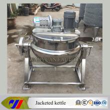 100L Dampfheizung Mantel Kochen Kessel mit Emulsion Motor