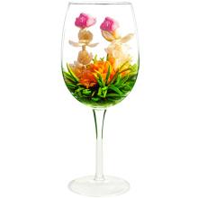 Chá de florescência do chá da flor do cravo-de-defunto de Jin Zhan Mei Gui com chá cor-de-rosa