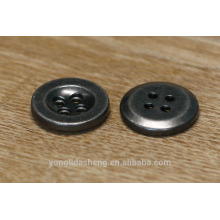 4-holes engraved logo garment metal button for sale
