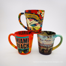 hot selling ceramic cups full wrap printing mugs coffee cup