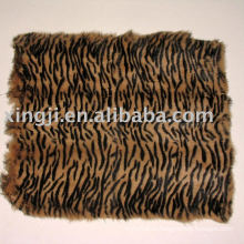 Крашеные Европейского кролика тигра полосы цвет кролика кожи меховые пластины