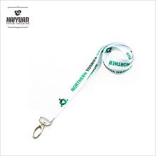 Titular da chave Corada do pescoço / Suporte do cartão de identificação Cordão com cartão / cordão branco personalizado impresso