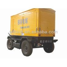 8-1500kw mobiler Generator mit 4 Rädern
