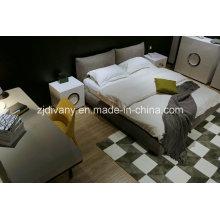 Nouveau mode Style chambre à coucher en bois tissu King Bed (A-B42)