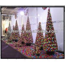 hand made color Christmas plastic ball tree
