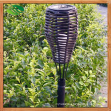 Outdoor Solar Power Rattan Torchieres LED Light