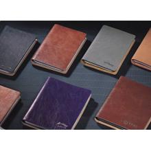 Carnets en cuir personnalisés de cahier d'ordinateur portable de concepteur et carnets faits sur commande