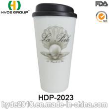Tragbare nicht-fragile doppelwandige Plastikkaffeetasse (HDP-2023)